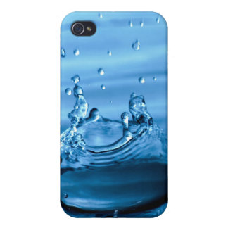 Water Droplets Splash Abstract Background Cases For iPhone 4