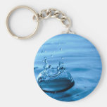 Water Droplets Splash Abstract Background Keychain