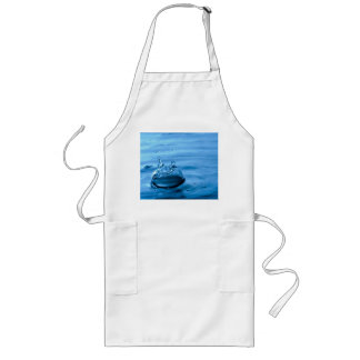 Water Droplets Splash Abstract Background Long Apron