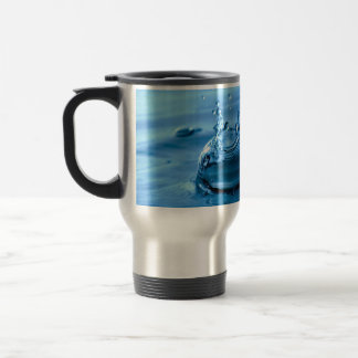 Water Droplets Splash Abstract Background Travel Mug