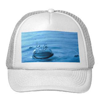 Water Droplets Splash Abstract Background Trucker Hat
