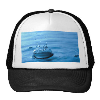 Water Droplets Splash Abstract Background Trucker Hat