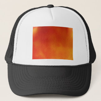 Water Droplets Spray Paint Art Orange and Yellow Trucker Hat