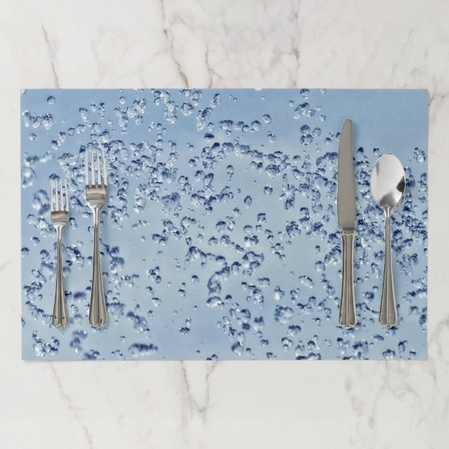 Water Droplets Table Set