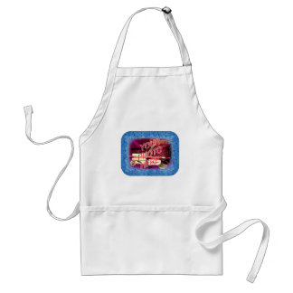 Water Droplets Template Frame Adult Apron
