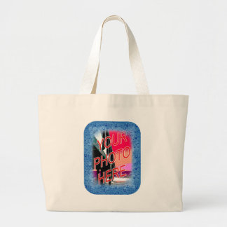 Water Droplets Template Frame Large Tote Bag
