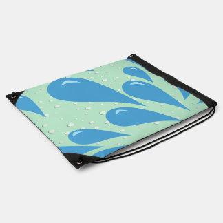 Water Droplets v2 Drawstring Backpack