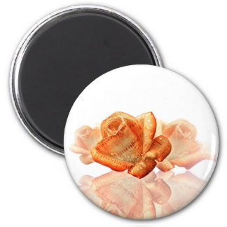 Water Dropped Rose with Sheet Music - Magnet