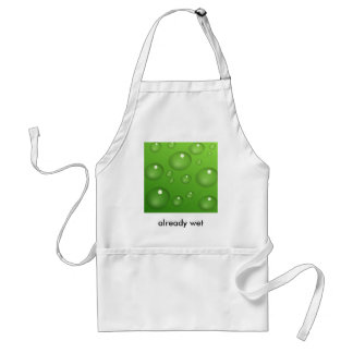 Water Drops Adult Apron