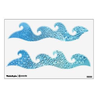 Water Drops Aqua wall decal
