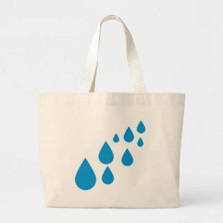 Water drops jumbo tote bag
