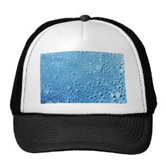 Water drops blue background design trucker hat
