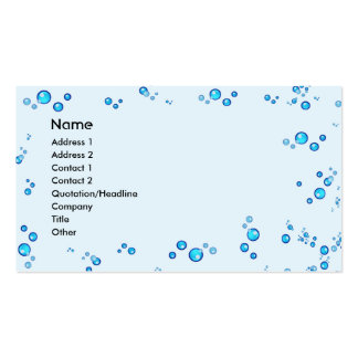 Water Drops Double-Sided Standard Business Cards (Pack Of 100)