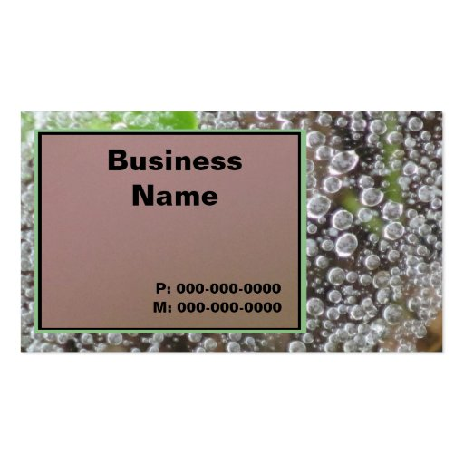 Water Drops Business Cards