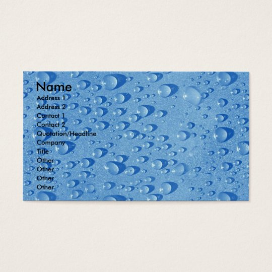 Water drops business card