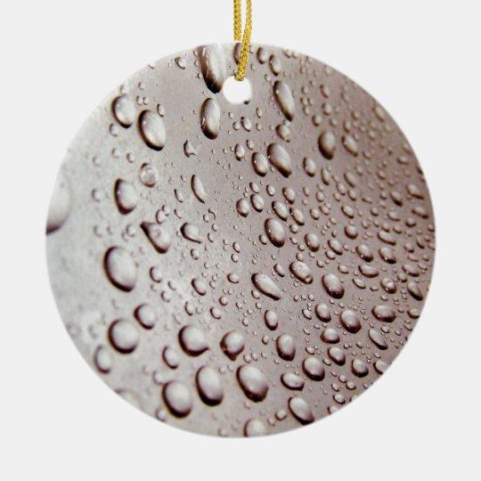 Water Drops Ceramic Ornament