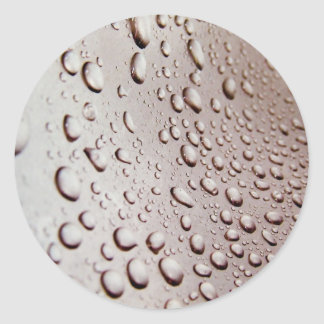 Water Drops Classic Round Sticker