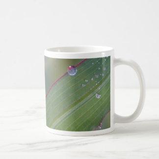 WATER DROPS CLASSIC WHITE COFFEE MUG