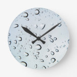 Water Drops Crystal Clear Fine glass tiles Beautif Round Wallclocks