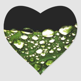 Water Drops Crystal Clear Fine glass tiles Beautif Heart Sticker