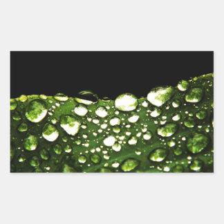 Water Drops Crystal Clear Fine glass tiles Beautif Rectangular Sticker