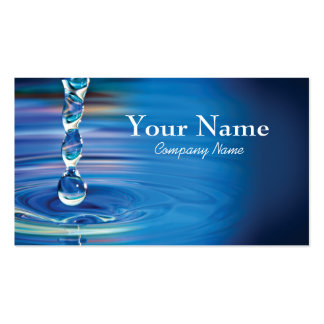 Water drops flowing into pool Double-Sided standard business cards (Pack of 100)