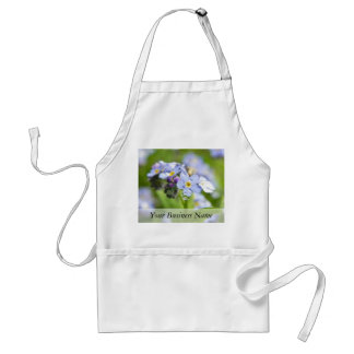 Water Drops - Forget Me Nots Adult Apron