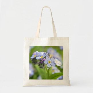 Water Drops - Forget Me Nots Budget Tote Bag