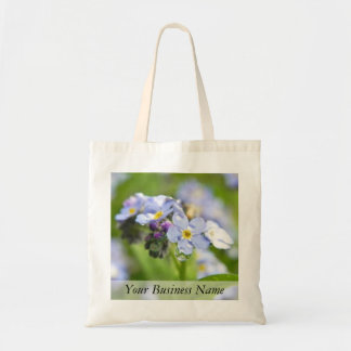 Water Drops - Forget Me Nots Tote Bag