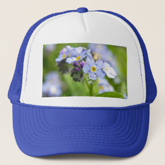 Water Drops - Forget Me Nots Trucker Hat