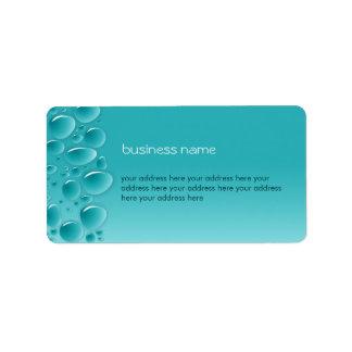 Water Drops Fresh Wet Aqua 2 Label