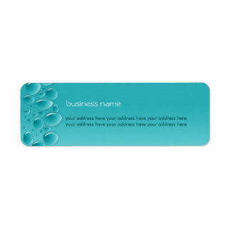 Water Drops Fresh Wet Aqua Custom Return Address Labels