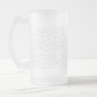 Water drops frosted glass beer mug