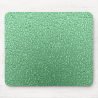 Water Drops - green Mouse Pad