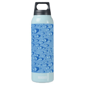 Water drops insulated water bottle