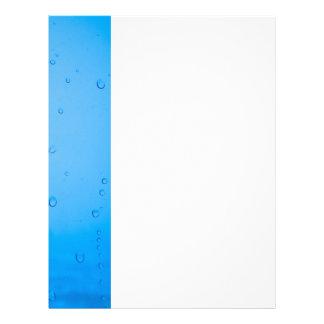 Water drops letterhead