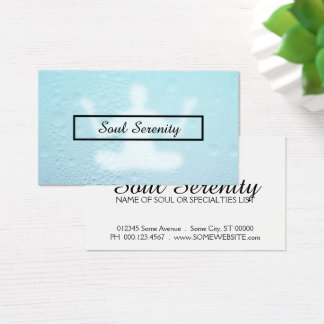 water drops meditation business card