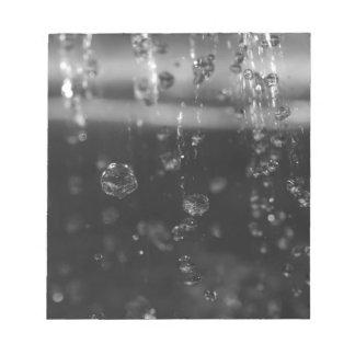 Water Drops Notepad