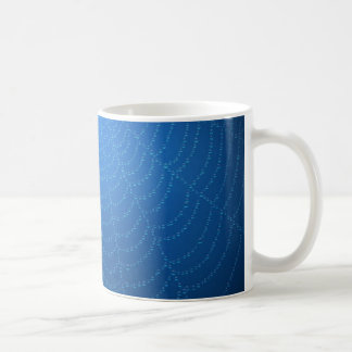 Water drops on a spider web (Blue) Coffee Mug