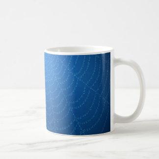 Water drops on a spider web (Blue) Coffee Mug