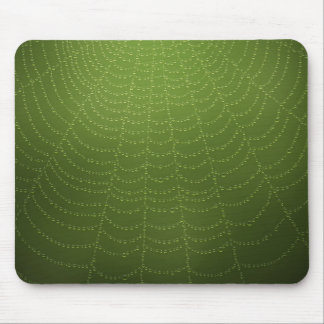 Water drops on a spider web mouse pad