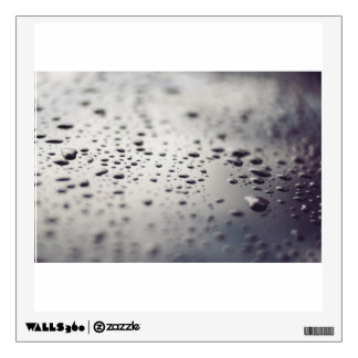 Water drops on a surface wall sticker