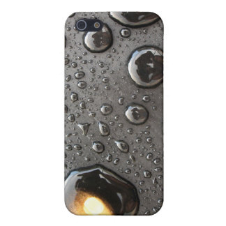 Water Drops on Black Cases For iPhone 5