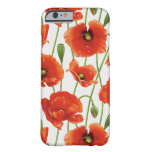 water drops on cute poppies barely there iPhone 6 case
