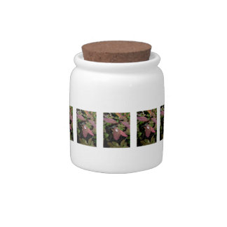 Water Drops on Foliage Candy Jar