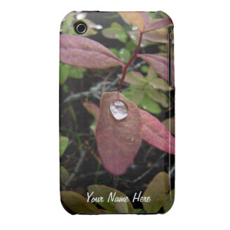 Water Drops on Foliage iPhone 3 Case-Mate Case