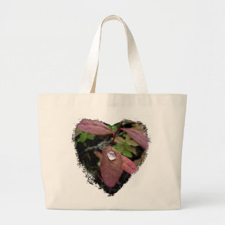 Water Drops on Foliage Large Tote Bag