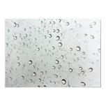 "Water Drops on Glass 5"" X 7"" Invitation Card"