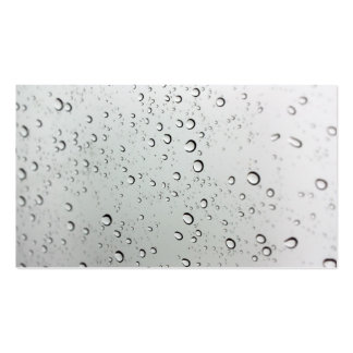 Water Drops on Glass Business Card