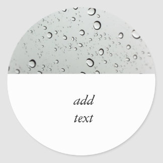 Water Drops on Glass Classic Round Sticker